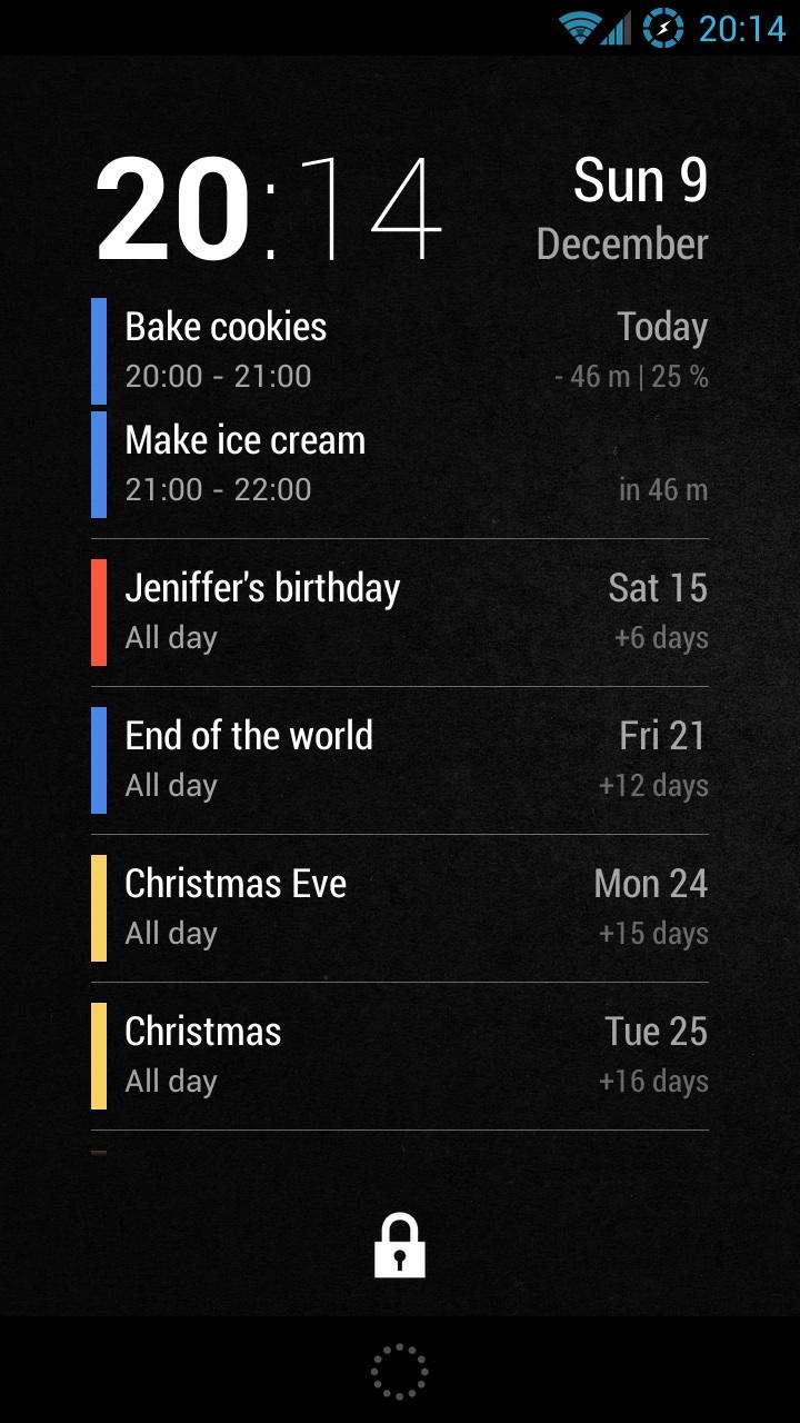 Wallpaper Calendar Widget : Neat calendar widget code sector